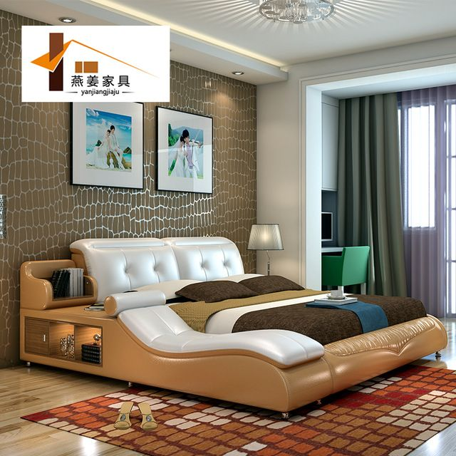 China mob lia do quarto cama de couro cama de tatami for Mobilia bedroom