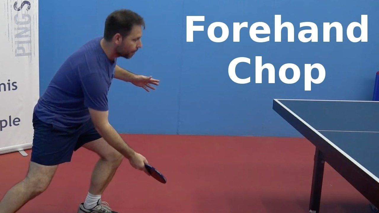 Forehand Chop Table Tennis Pingskills Table Tennis Tennis Tennis Videos
