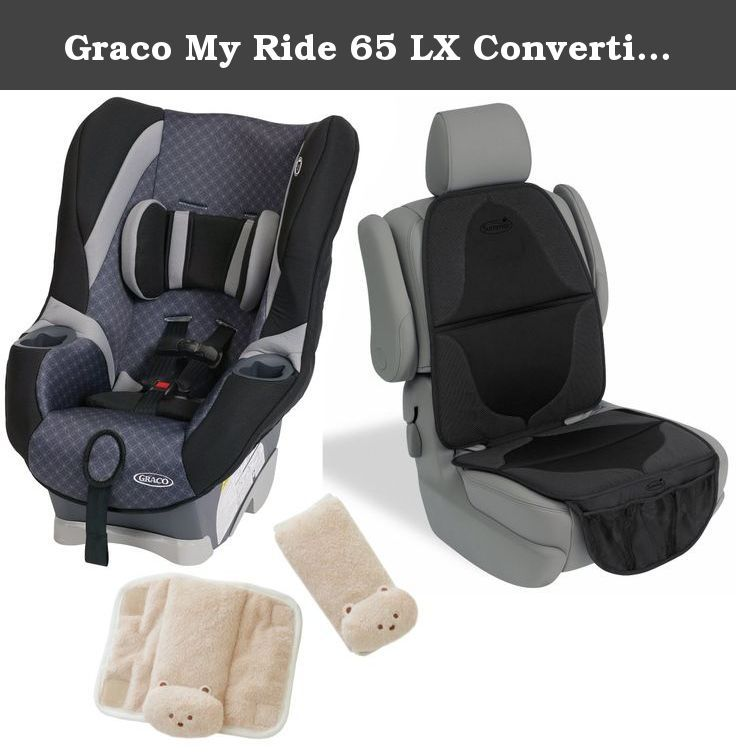 Graco My Ride 65 LX Convertible Car Seat With Elite Mat Cushioned Strap Covers Coda