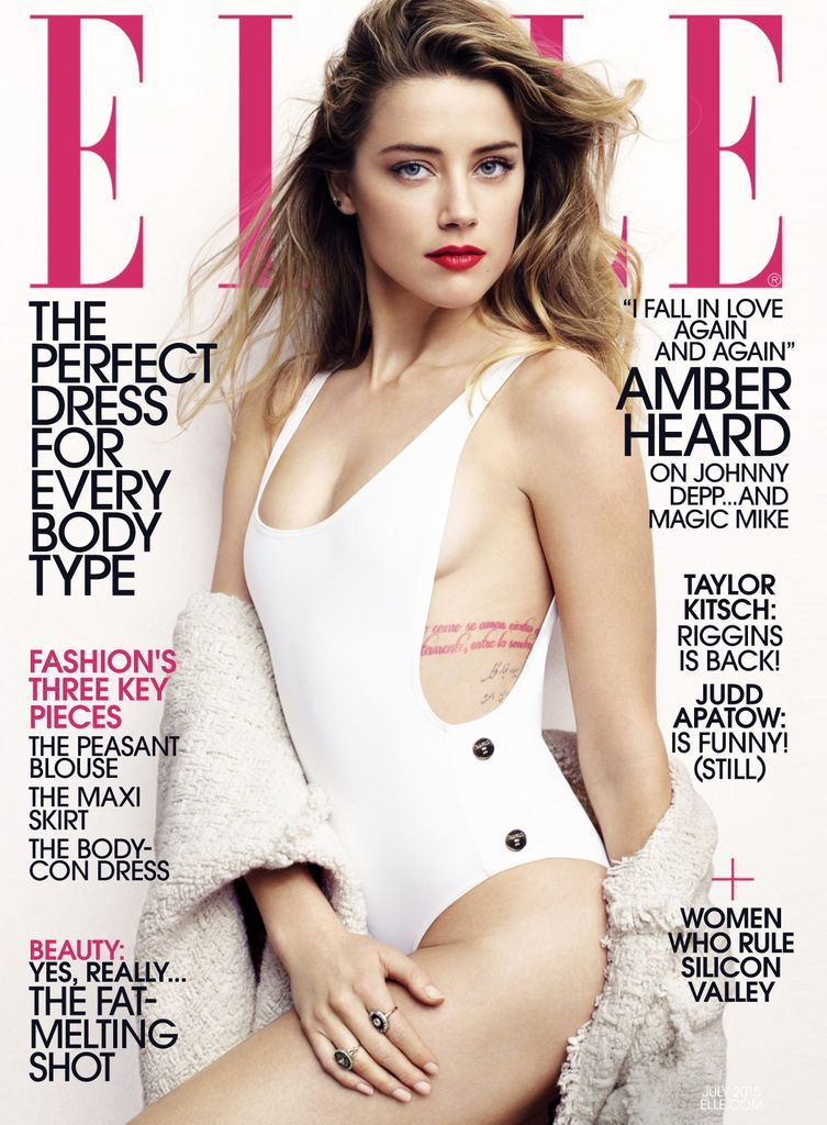 Elle Back Issue July 2015 Digital In 2020 Amber Heard Hot Amber Heard Bikini Amber Heard