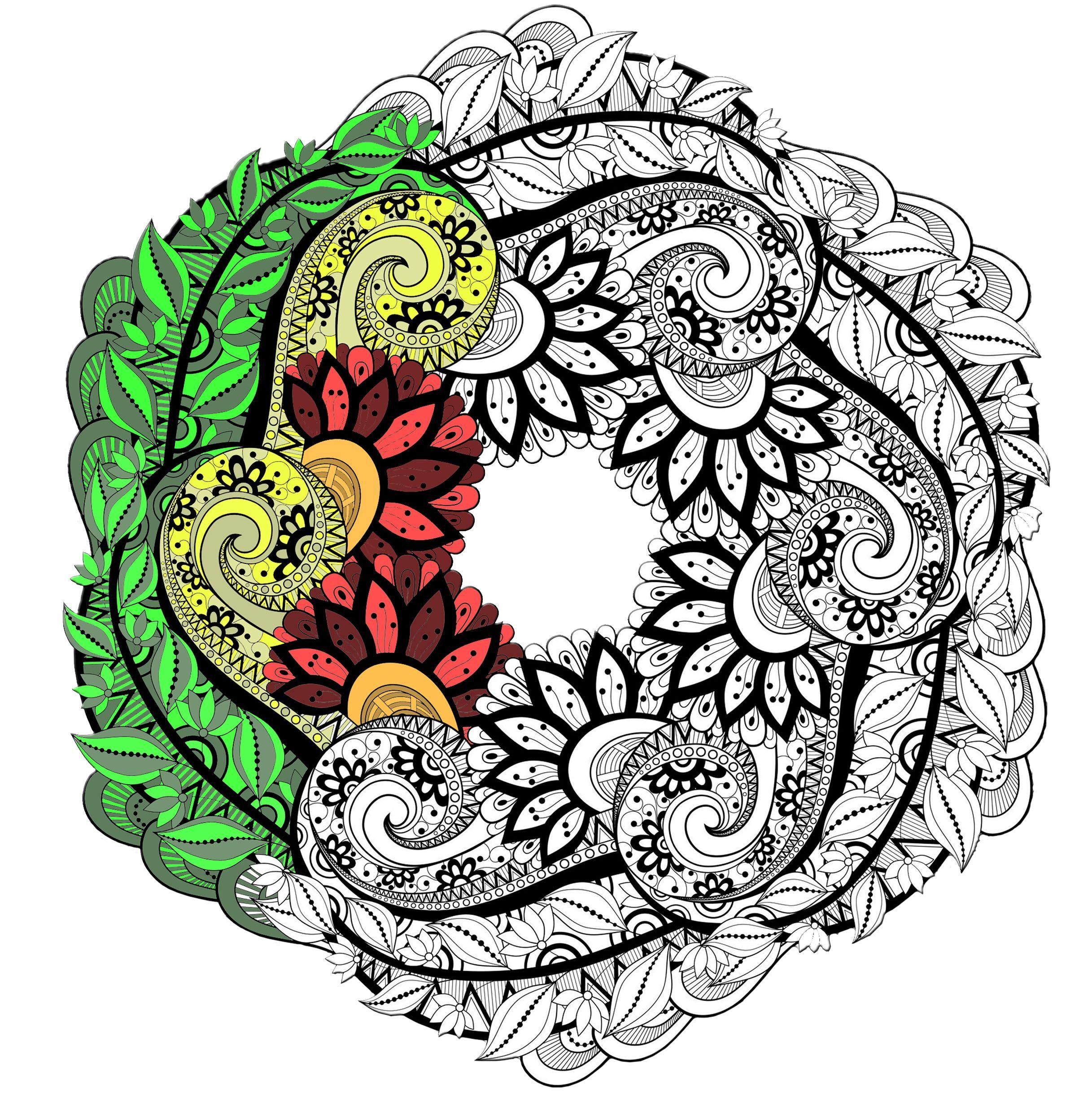 Inspirant Dessin A Imprimer De Chat Mandala