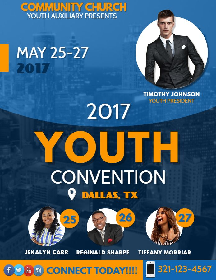 youth convention event flyer design click to customize event