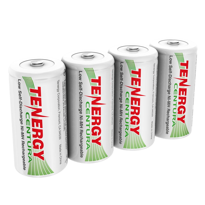 4 Pack 2 X Cards Tenergy Centura Nimh C 1 2v 4000mah Rechargeable Batteries Rechargeable Batteries Recharge Nimh