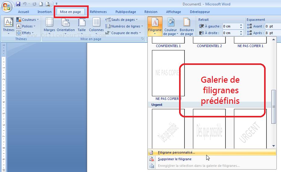 Preference Texte Ou Image En Arriere Plan Estompe Filigrane Dans Word Qp64 Map Map Screenshot