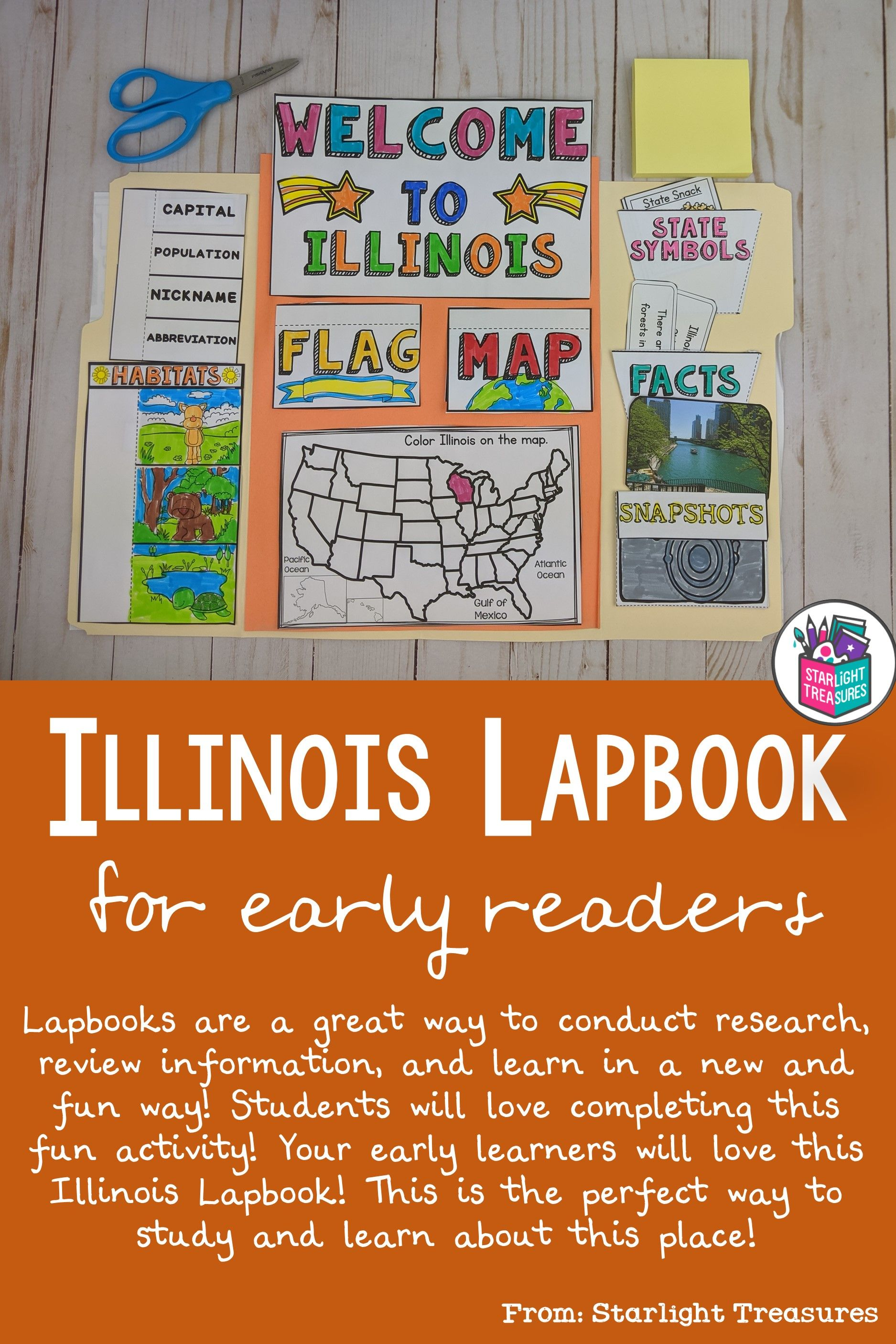 Illinois Lapbook For Early Learners