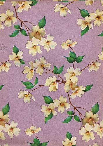 Vintage gift wrap - dogwood branches | Flickr - Photo Sharing!