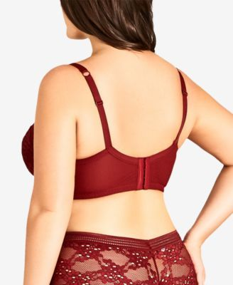 3afd20666a50b City Chic Trendy Plus Size Bronte Bra - Red 42D