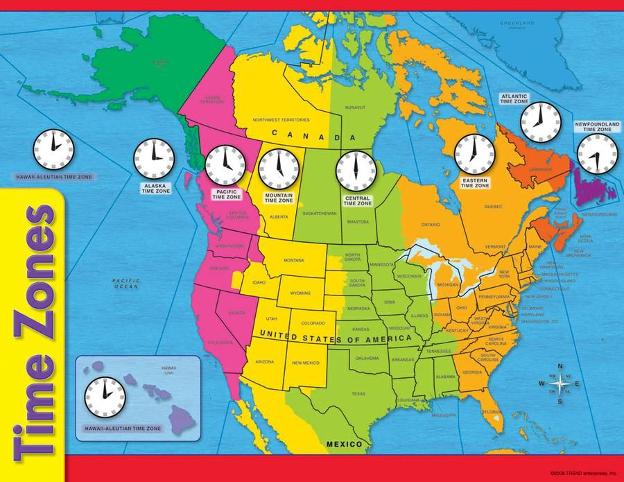 Time Zone Map United States free printable united states ...