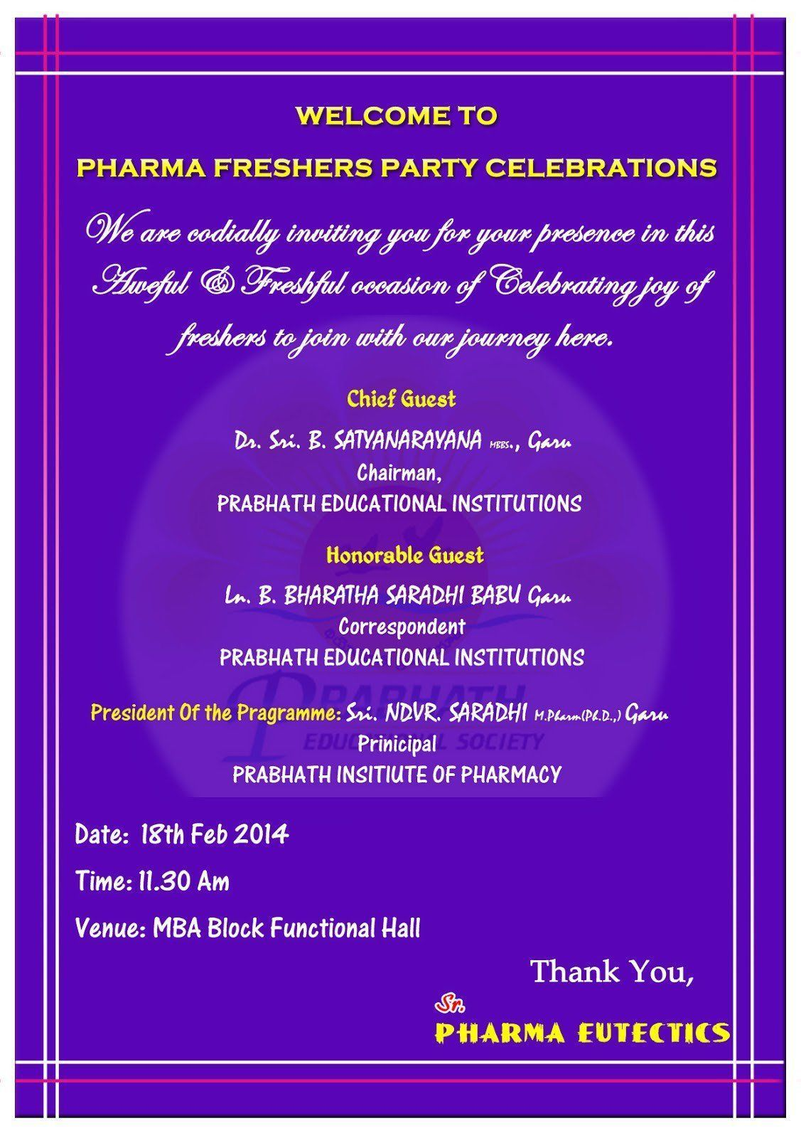 Invitation Card Quotes For Freshers Party In 2021 Freshers Party Birthday Party Invitation Wording Block Party Invitations