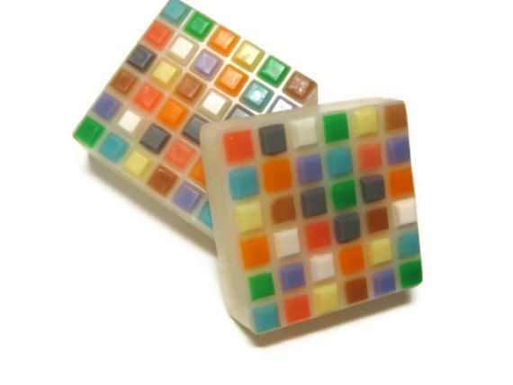 Mosaic Tile Soap by KleanKristi on Etsy, $6.25