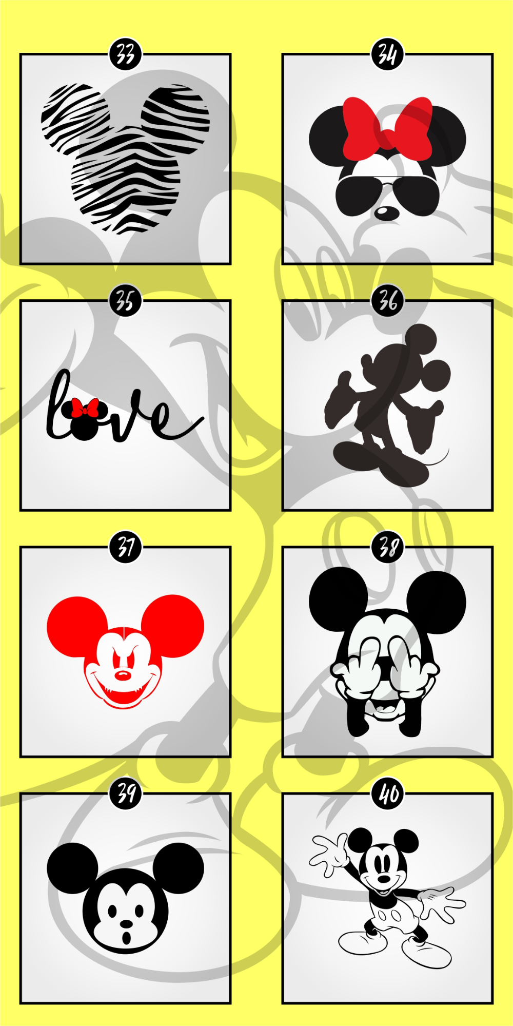 NEW! Disney SVG Bundle and Font Minnie mouse font