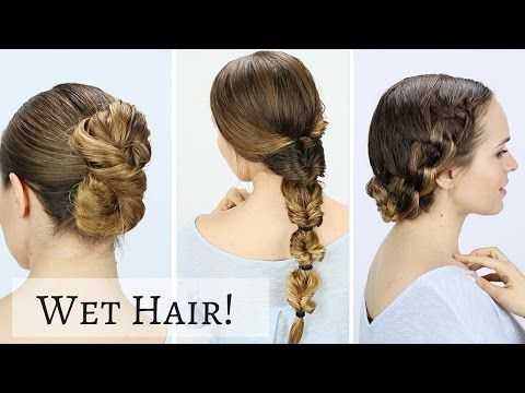 If You Re Looking For Quick Easy And Stylish Updos For Mornings You Re Running Late We Ve Curated 22 Wet Ha In 2020 Hair Tutorials Easy Hair Styles Long Hair Styles