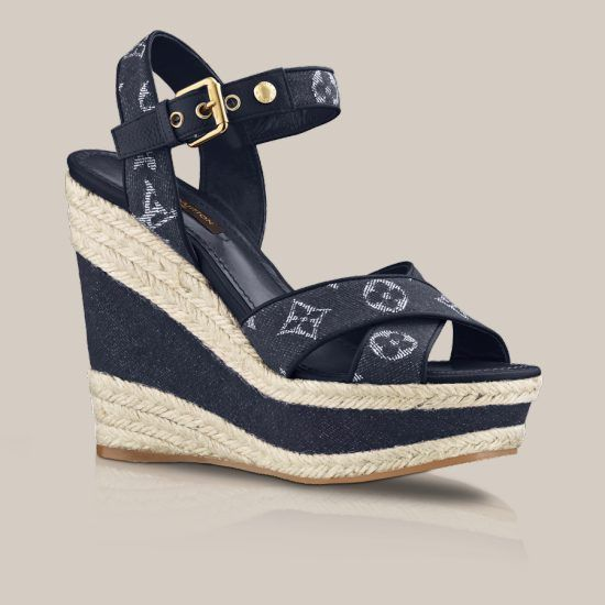 897aa1c5a Formentera sandal in Monogram Denim via Louis Vuitton | Shoes | Schuhe