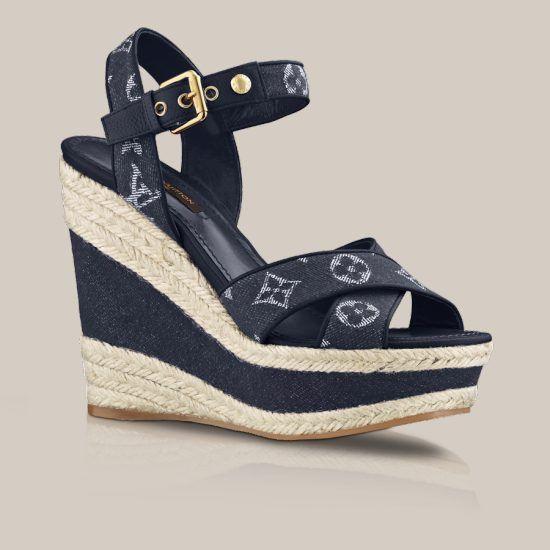 d8a8ade2f33 Formentera sandal in Monogram Denim Shoes - Louis Vuitton