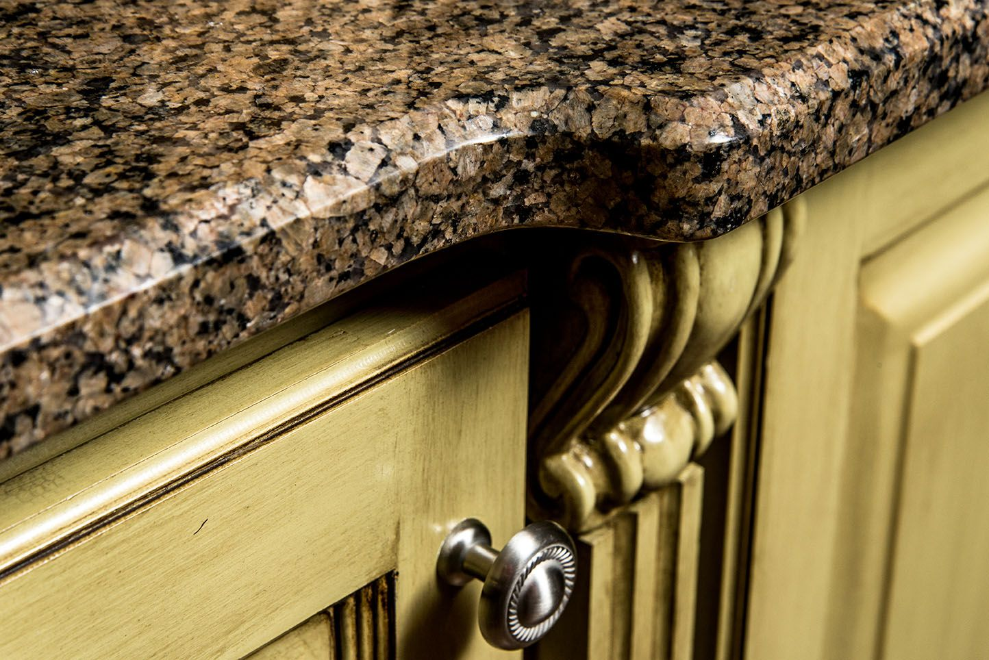 A Lavish Granite Countertop Made From Our Tropic Brown Granite