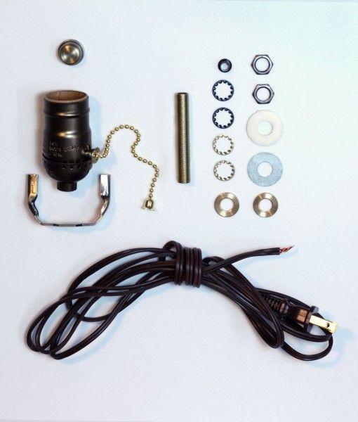 Lamp Wiring Kit Antique Brass Brown Solar Energy Diy Diy