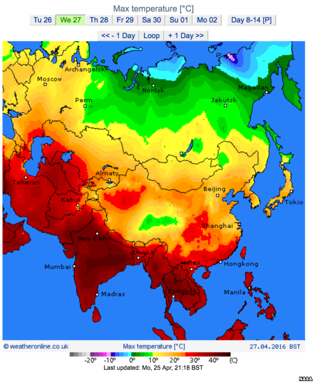 Southeast Asia Weather Map.This Map From Nasa Shows Land Surface Temperatures Throughout Asia