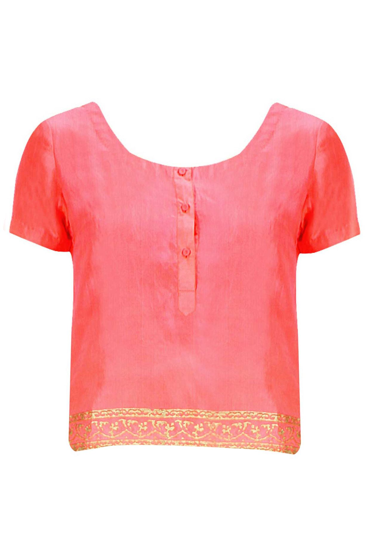 be75b1c4dc Pink silk top. By Anupamaa Dayal. #designer #indian #stylish #shopnow  #perniaspopupshop #happyshopping