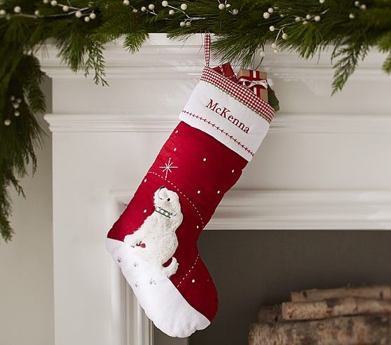 Sherpa Dog Quilted Stocking | Pottery Barn Kids | Christmas ... : pottery barn kids quilted stocking - Adamdwight.com
