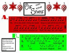 Elf on the Shelf speech and unpitched percussion or Orff or Boomwhackers.. you pick activity! Free!