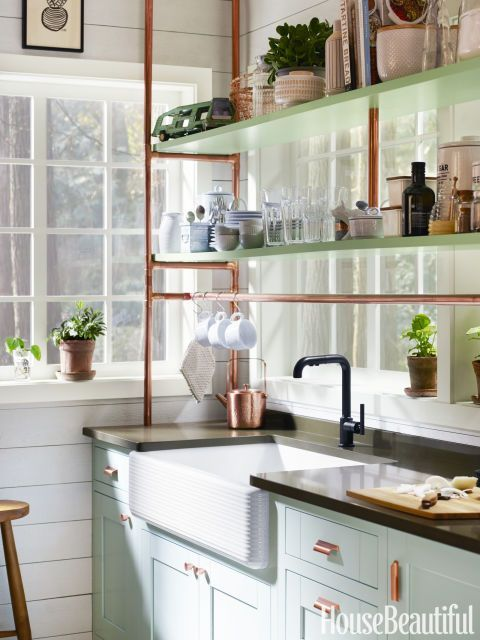 Superbe Mint And Copper Kitchen Inspiration | Image Source: House Beautiful Photo  Credit: Kohler