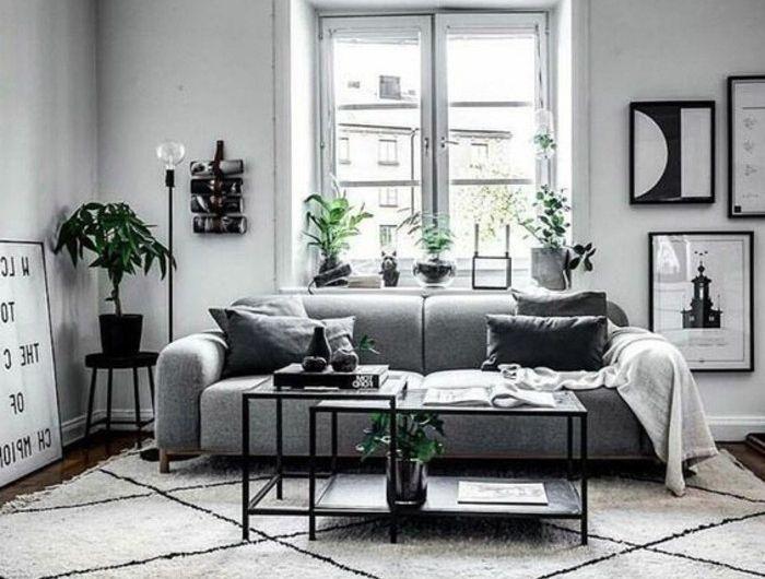 Un salon en gris et blanc cest chic voilà 82 photos qui