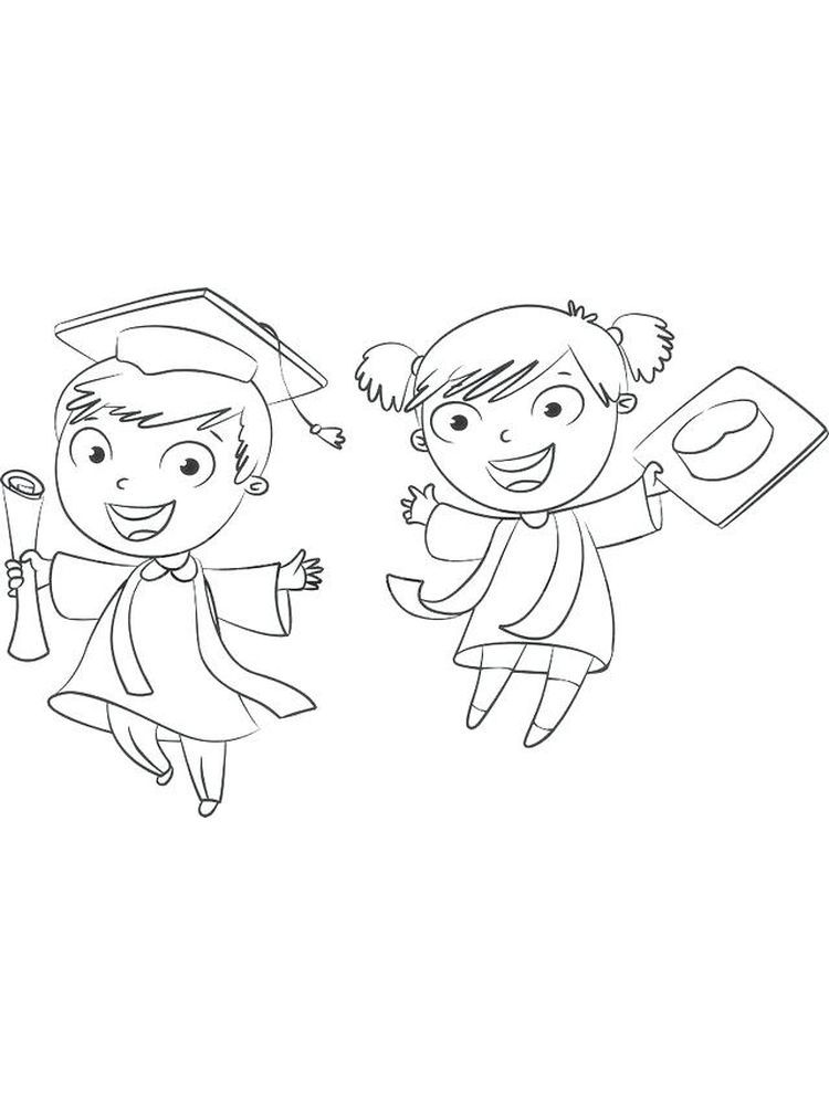 Kindergarten Graduation Coloring Pages Free