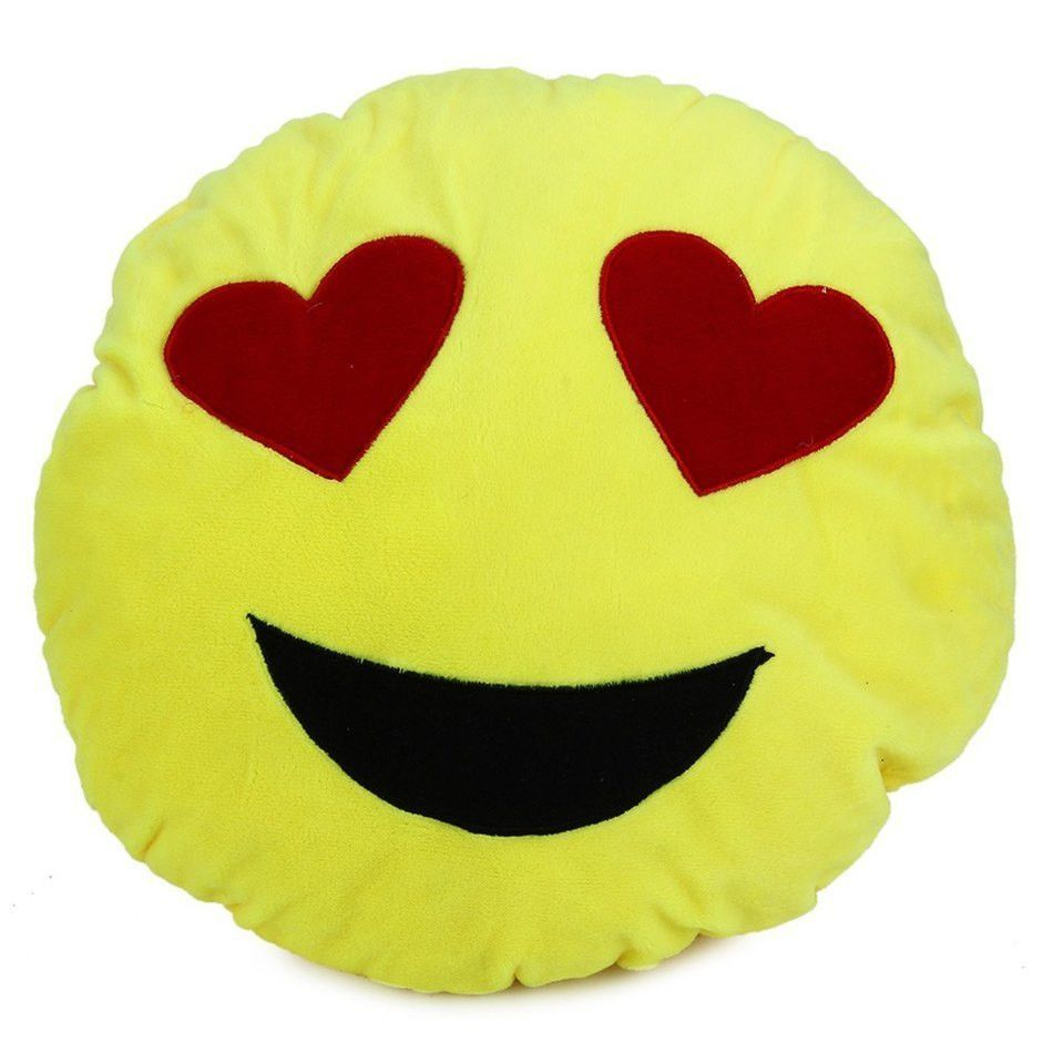 Cm emoji pillow smiley emotion round throw pillow stuffed plush