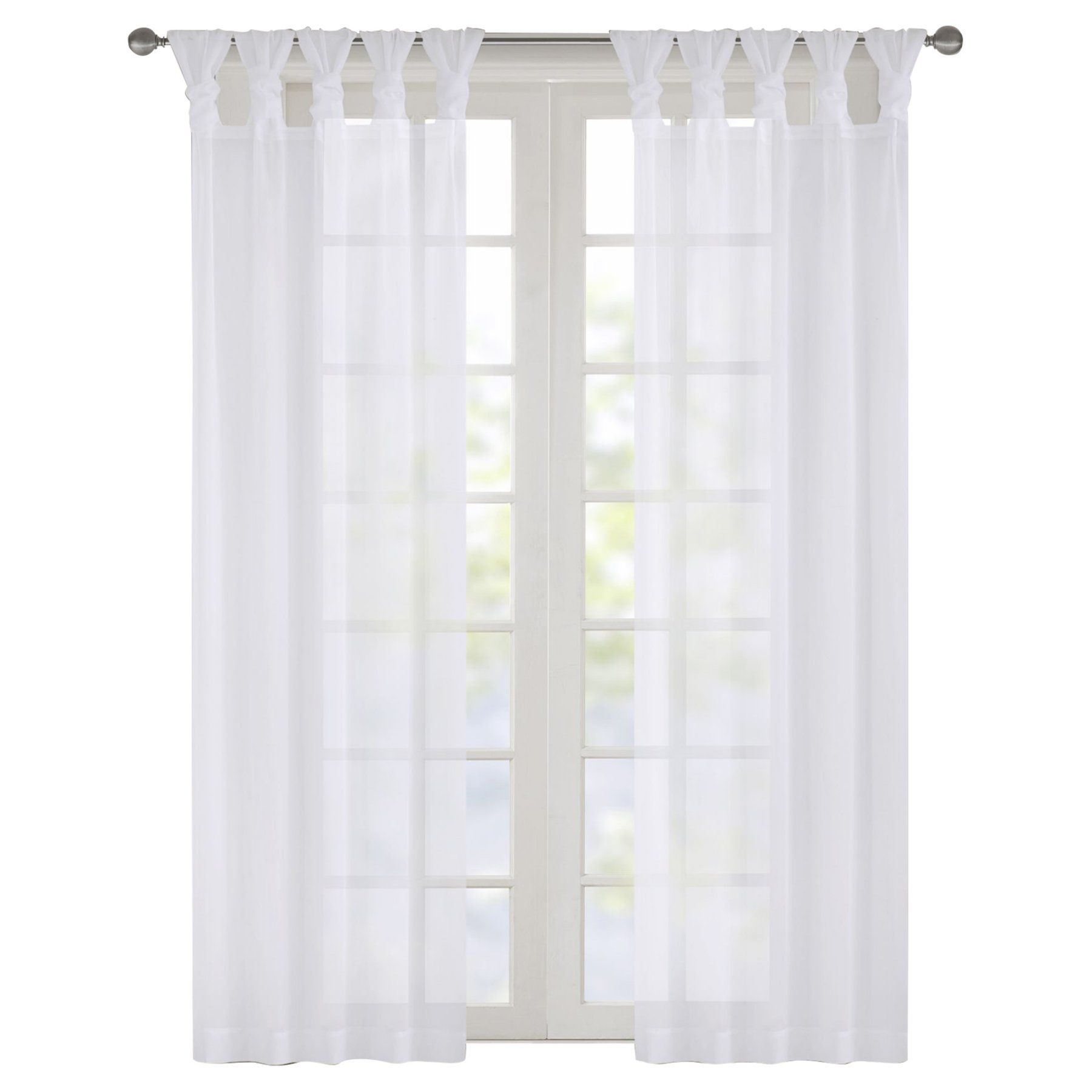 Madison Park Ceres Voile Sheer Curtain Panel Pair