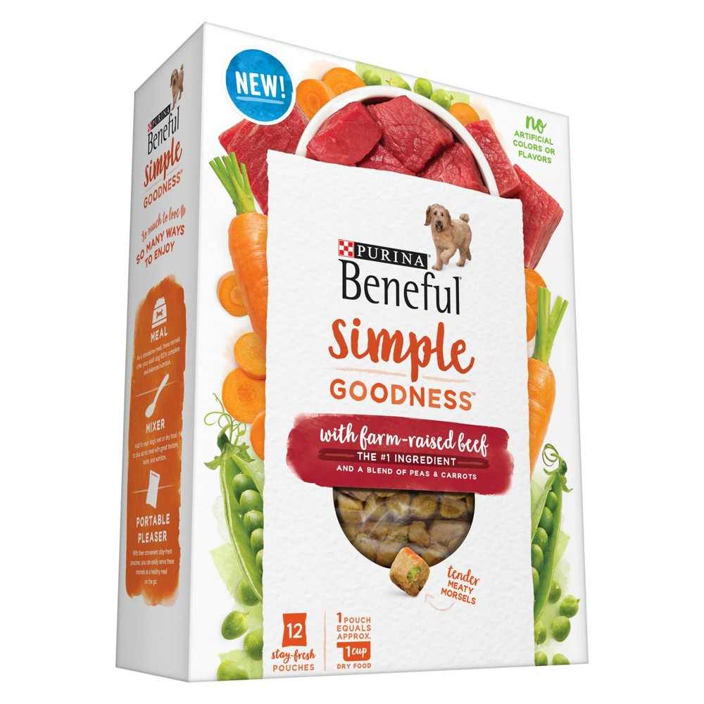 Beneful Simple Goodness Beef Dry Dog Food 12ct Dry dog