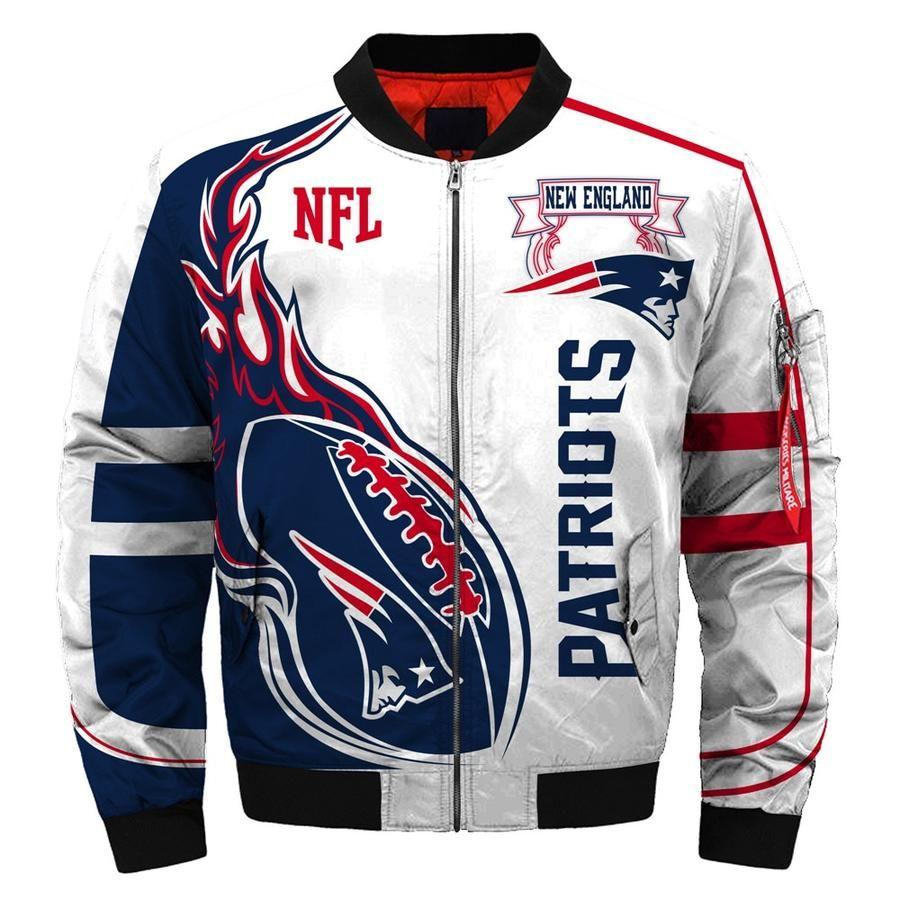 New Season 2019 New England Patriots Coat Thick Bomber Jacket Men Gift For Fan Bomber Jacket Custom New England Patriots Nfl New England Patriots