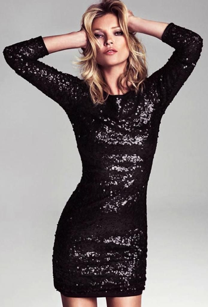 Mango Kate Moss black sequin party dress 0d4e6e97d7b3