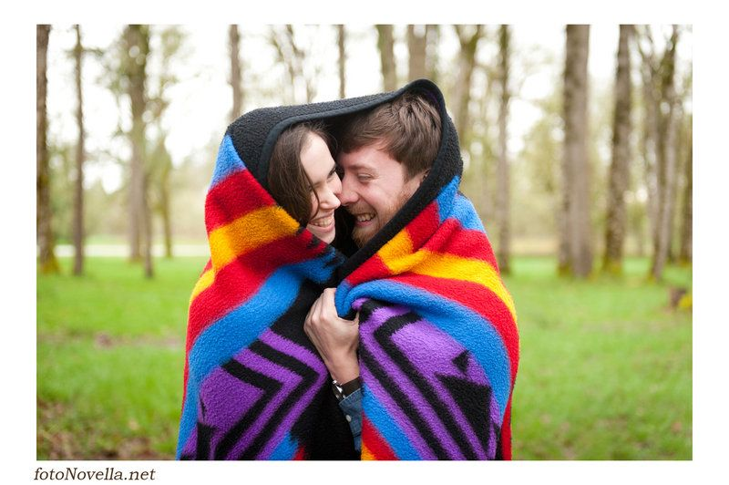 Andrew & Sasha Newberg, Oregon Engagement  Photo By FotoNovella  Blanket equals perfect!