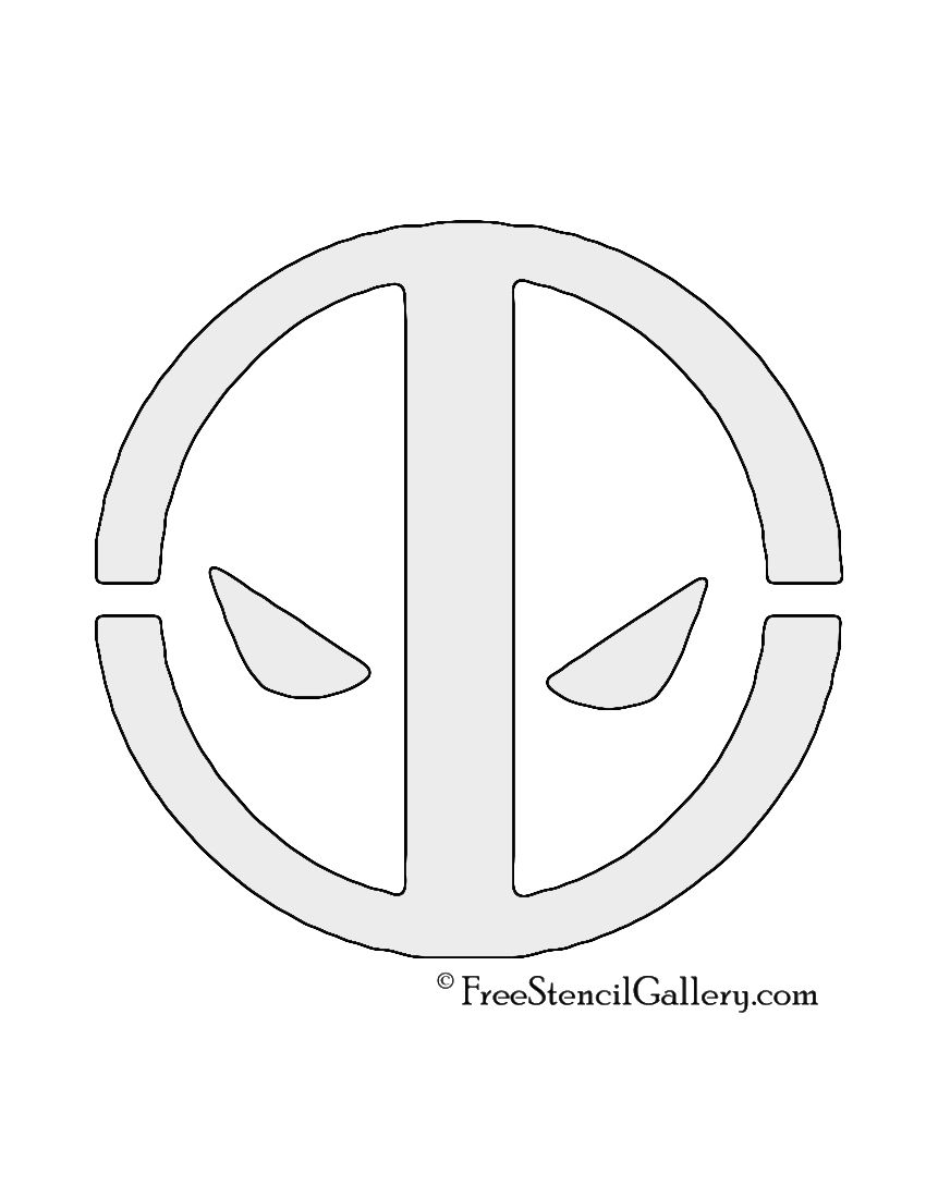 Deadpool logo stencil diy projects pinterest bucky