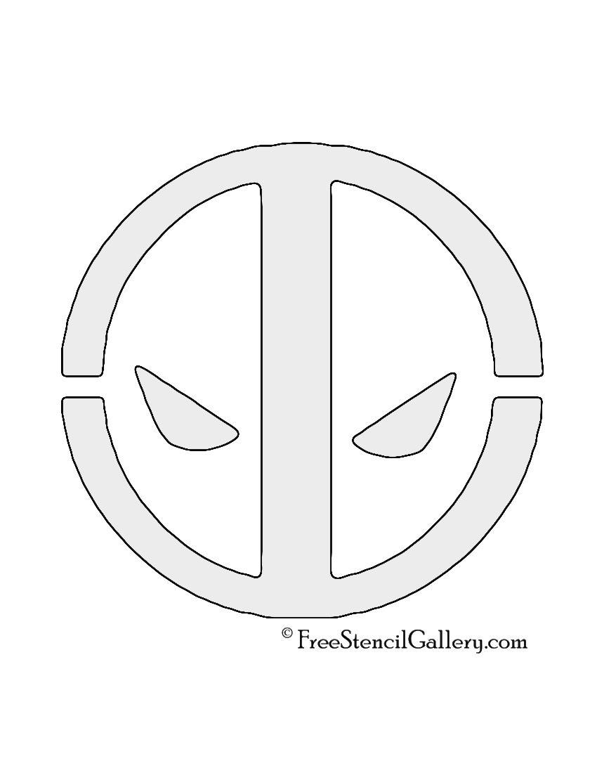 Deadpool Logo Stencil | Kinetix | Stencils, Pumpkin stencil y Halloween