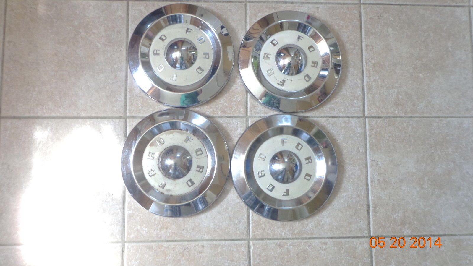 Ford Dog Dish Wheel Covers Hub Caps Hot Rod Rat Rod Classic Chrome