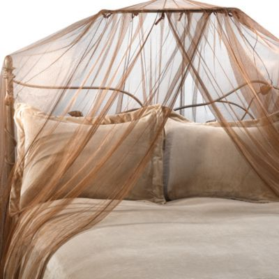 Siam Bed Canopy and Mosquito Net in Coco Brown - BedBathandBeyond.com & Siam Bed Canopy and Mosquito Net in Coco Brown - BedBathandBeyond ...