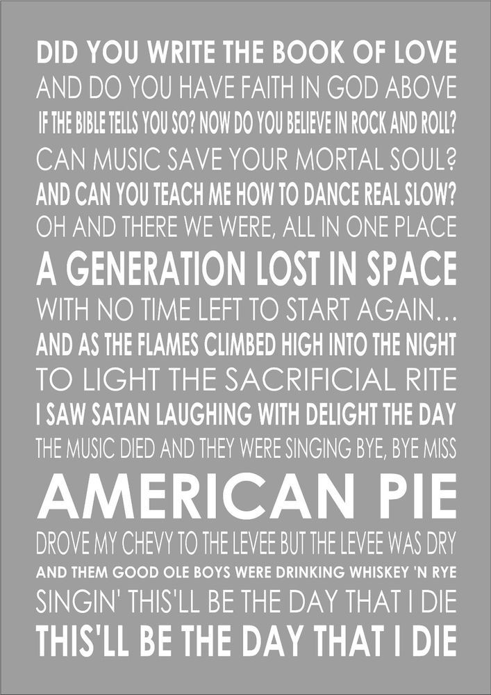 American Pies Lyrics — Vila \