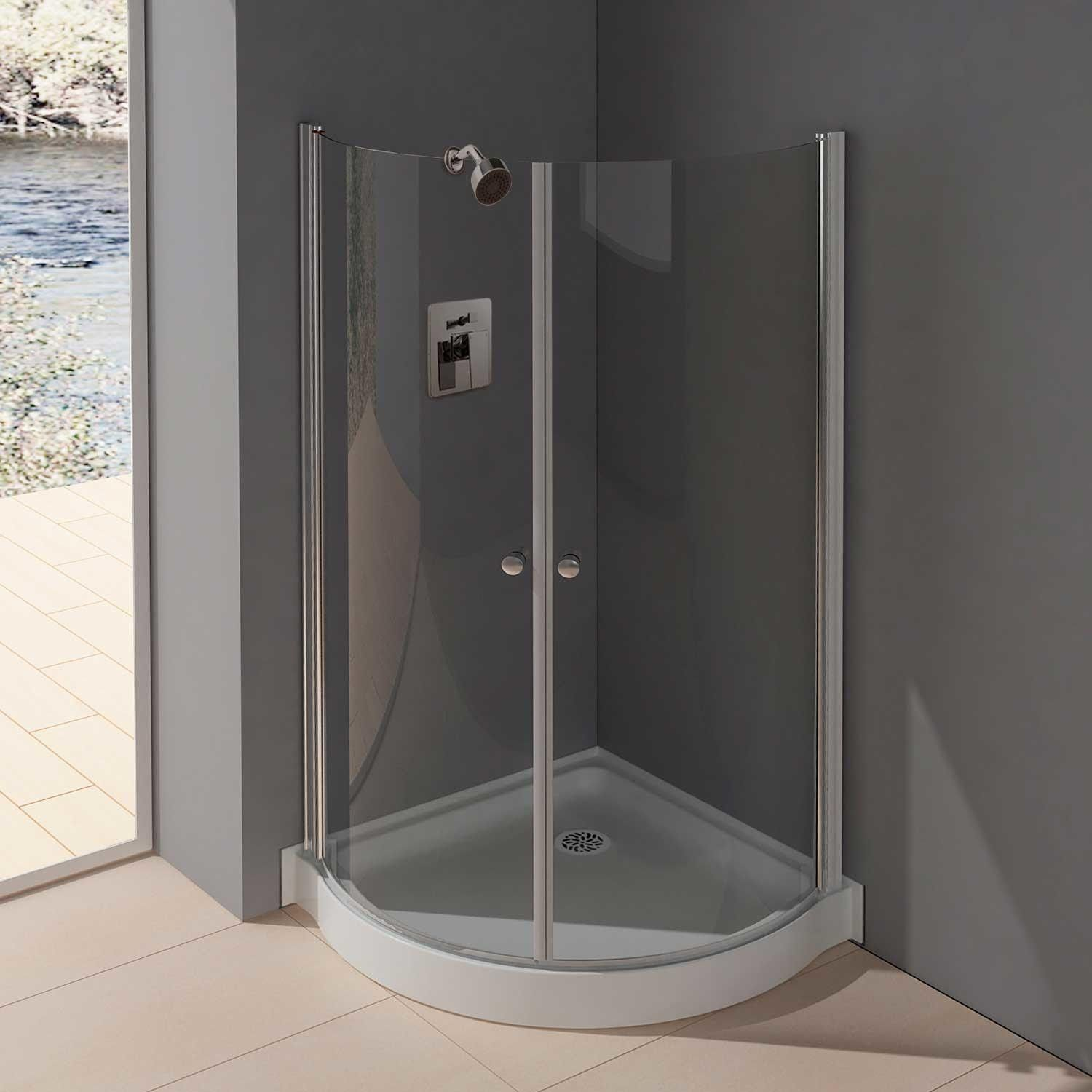 "36"" x 36"" Belem Corner Shower Enclosure With Hinged Doors"