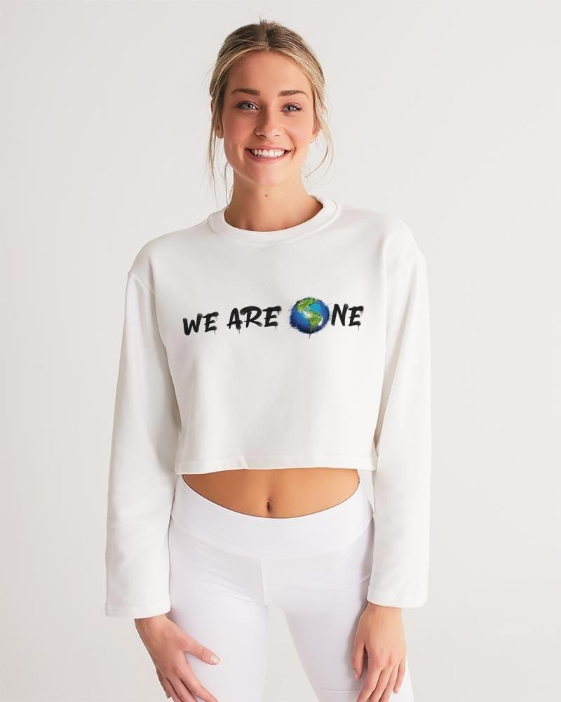 We Are One Women's Cropped Sweatshirt – white base color / M