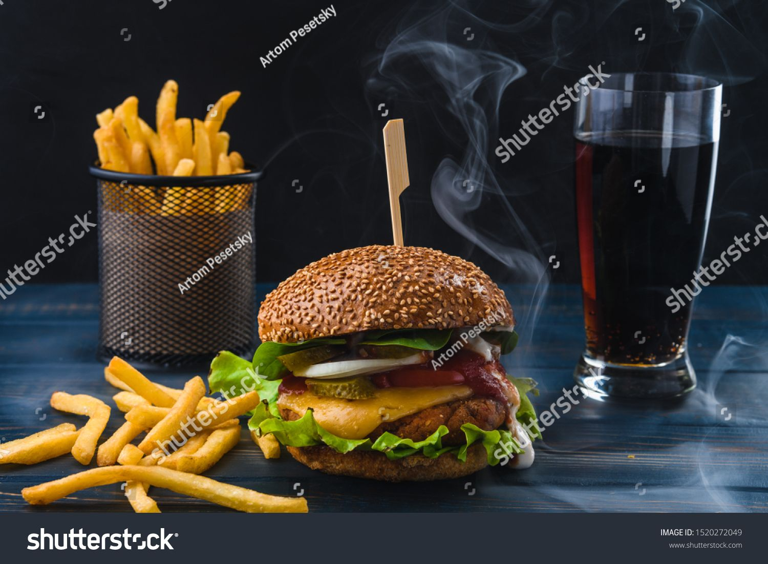 Vegetarian Burger With Fries And Drink On Wooden Table Sponsored Affiliate Fries Burger Vegetarian Table Vegetarian Burger Burger Burger And Fries