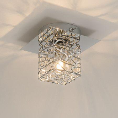 Wand-/Deckenleuchte Draht 1 chrom  #Deckenlampe #Lampe #Innenbeleuchtung #Wohnzimmerlampe