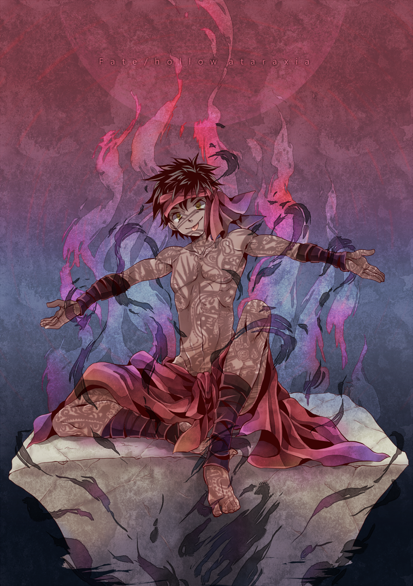 Avenger Fate Hollow Ataraxia Anime Anime Demon Boy Art