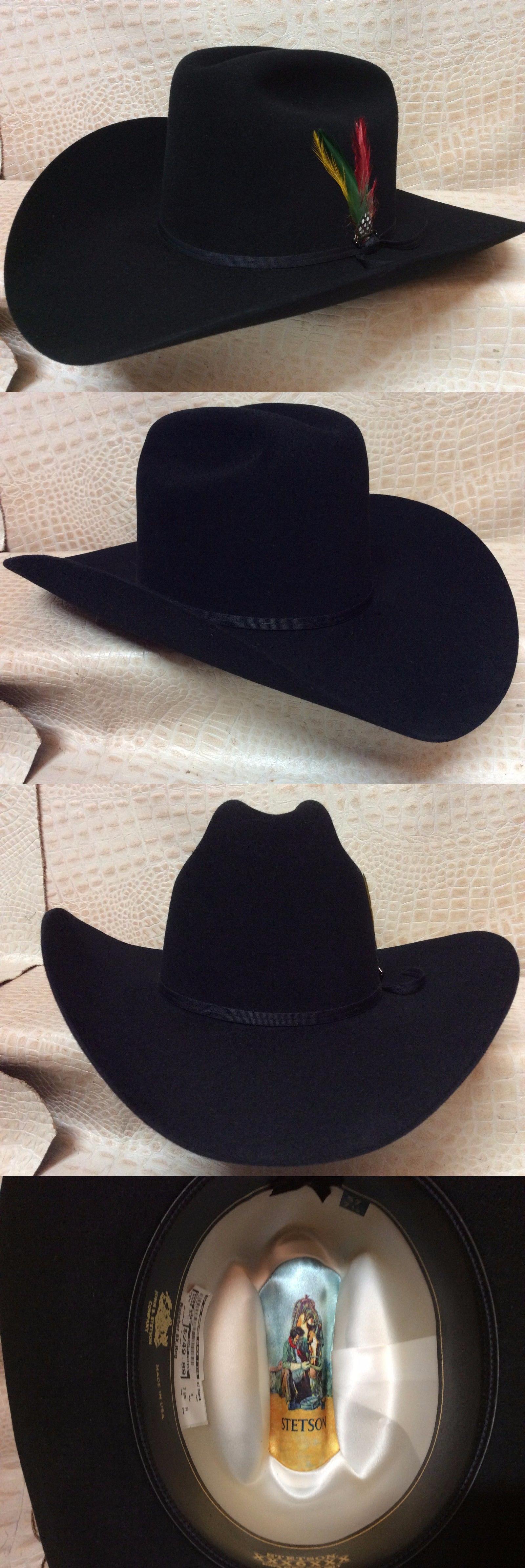 ba8f2994b86ac Hats 52365  New Stetson Rancher Black 6X Beaver Fur Felt Cowboy Hat -  BUY  IT NOW ONLY   215.99 on eBay!