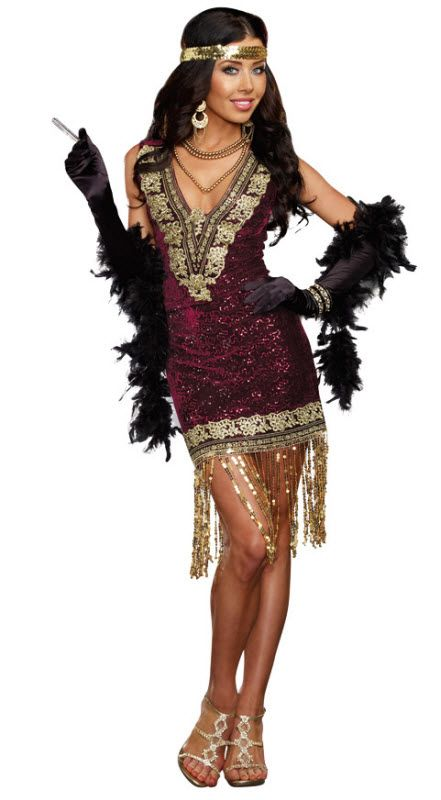d8dfdaae08 Sexy Women s Flapper Costume in 2019