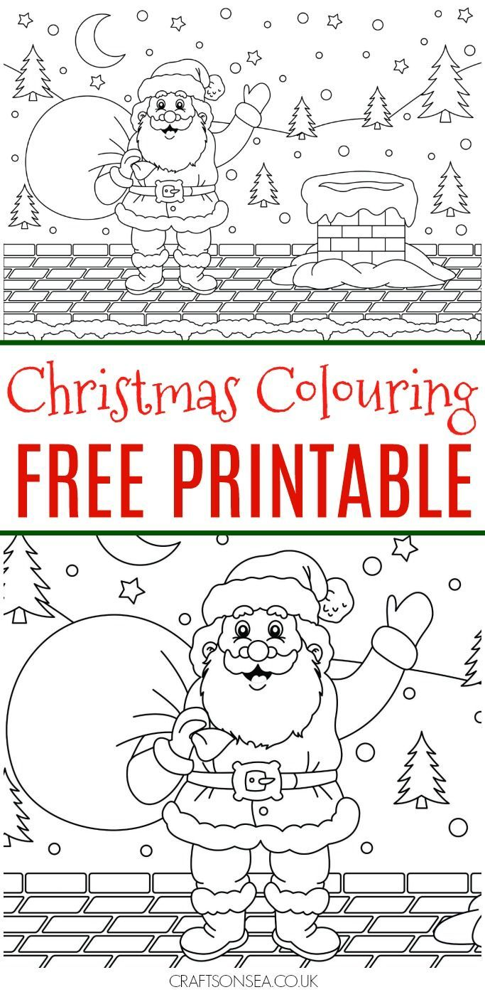 this santa is just too cute grab this free christmas colouring page now and enjoy some chilled out festive fun with the kids colouring christmas