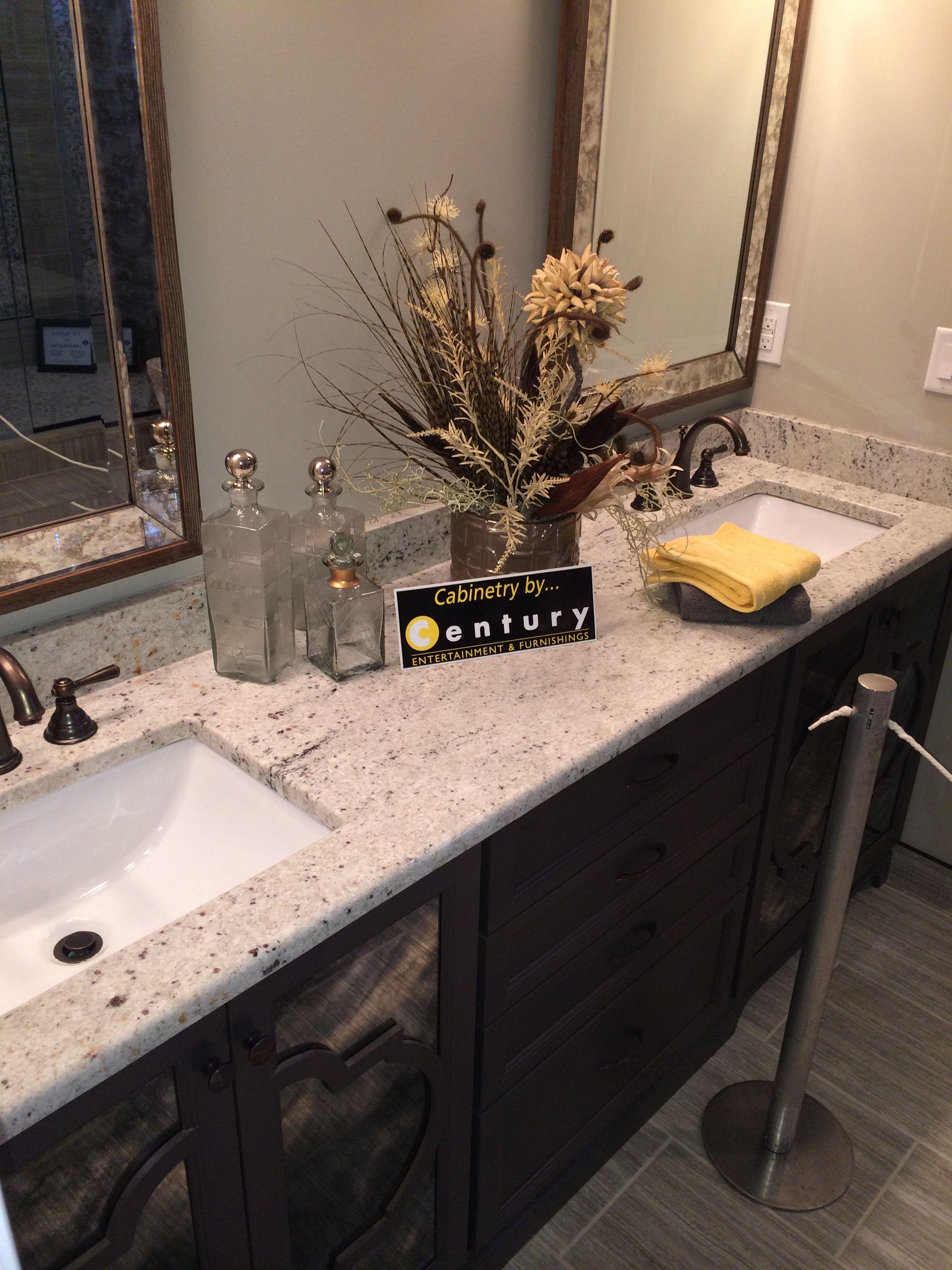 Colonial White Granite With Dark Vanity Visit Globalgranite Com For Your Natural Stone Nee Granite Bathroom Countertops Vanity Backsplash Grey Bathroom Vanity