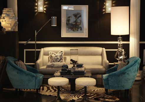 sexy living rooms one couch room ideas love the accent color and animal rug of course