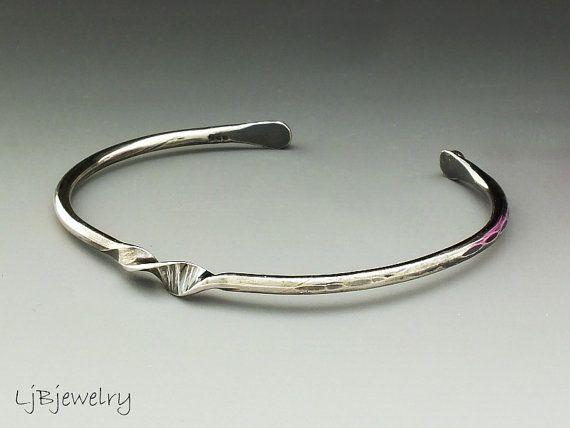 Argent manchette Bracelet manchette argent argent par LjBjewelry