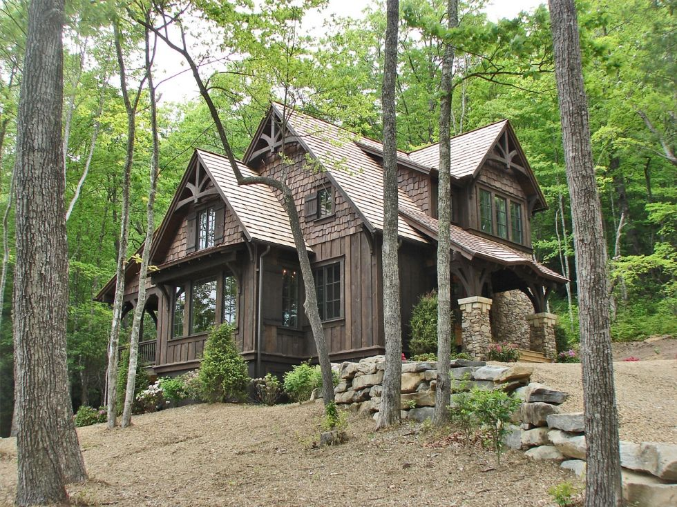Small Unique Mountain Homes: Mountainworks Custom Home Design In Cashiers, NC